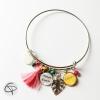 bracelet maman d'amour 1 médaillon prénom enfant