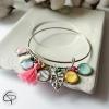 bracelet maman d'amour personnalisable 4 médailles avec prénoms