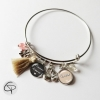 bracelet personnalisé maman 1 prénom enfant pompon cygne