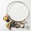 bracelet personnalisé maman d'amour 2 médaillons enfants