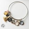 bracelet personnalisable pour maman avec 3 médailles avec prénoms