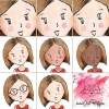 différents choix de visages de maîtresses d'école dont la vôtre