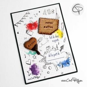 merci super maître biscuits aimantés magnets faits main