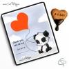 biscuit coeur merci dessin panda fait main