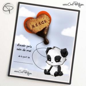 Magnet aimanté biscuit cœur chocolat pour dire merci