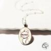 pendentif enfant dessin chat en médaillon