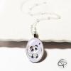 pendentif panda illustré main collier pour enfant