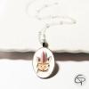 collier pour fille pendentif renard indien