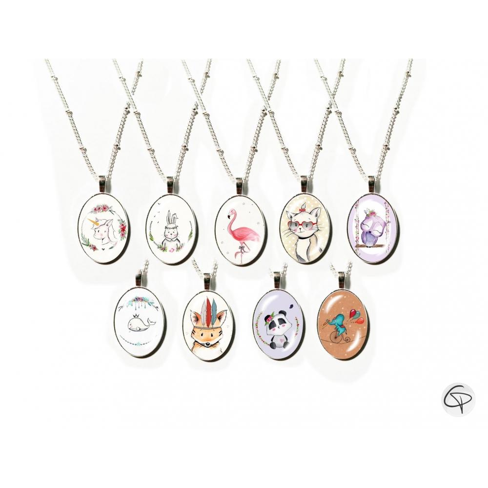 colliers pour enfant dessins animaux mignons bijoux petites filles