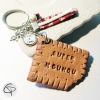 Porte-clé biscuit Super Nounou personnalisable de la part de votre enfant