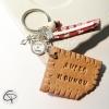 Porte-clé biscuit nounou personnalisé cadeau original babysitter