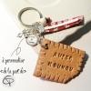 Porte-clé biscuit fait main nounou à personnaliser cadeau assistante maternelle