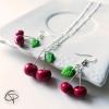 bijoux originaux avec des cerises pour filles et ados