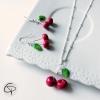 parure bijoux fille collier cerises et boucles cerises