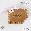 remerciement cadeau naissance fille biscuit croqué made in France
