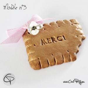 biscuit aimanté remerciement naissance original fille