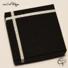 boîte cadeau carrée noire et argentée pour parure de bijoux
