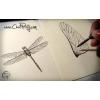 libellule-réalisée-à-l'encre-pour-création-de-bracelet