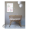 affiche de naissance fille lapin avec informations bébé à personnaliser