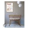 renard pour décoration de chambre bébé informations de naissance encadrées