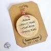 décoration Noël originale rondin en bois personnalisable avec votre texte