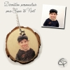 suspension de sapin de noël personnalisée avec photographie enfant