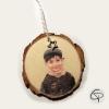 décoration de Noël avec photographie à suspendre dans le sapin