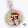 suspension en bois pour sapin de Noël avec photo personnalisable