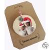 suspension de Noël avec photo imprimée fabrication artisanale