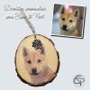 déco de Noël personnalisable avec la photo de votre chien préféré