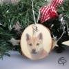 boule de Noël personnalisée artisanalement avec la photo de votre chien