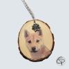 rondin de bois personnalisé avec une photo d'animal de compagnie