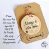 décoration de sapin de Noël avec message personnalisé