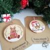 rondins en bois de Noël peints à la main personnalisables
