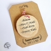 décoration Noël originale rondin personnalisable avec votre texte