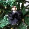 décoration pour sapin personnalisable avec une poupée organza noir