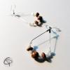 Boucles d'oreilles créole forme goutte d'eau femme argent 925