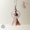 bola de grossesse girly avec grelot musical et pompons roses