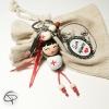 porte-clef super infirmière poupée en bois peinte à la main