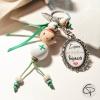 porte-clé personnalisé aide-soignante poupée faite main cadeau original