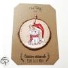 décoration pour sapin de Noël licorne personnalisable prénom fille