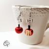 boucles d'oreilles pommes croquées bijoux raffinés pour femme