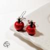 pendants d'oreilles pour femme avec de mignonnes pommes