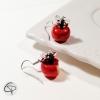 boucles d'oreilles Argent 925 pommes bijou original romantique