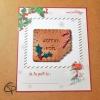 biscuit croqué Joyeux Noël à personnaliser avec une carte de la part de