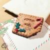 biscuit fait main avec aimant et message Joyeux Noël personnalisable avec le prénom d'un invité