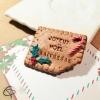 gâteau Lu aimanté Joyeux Noël au prénom personnalisé décoration de table à offrir