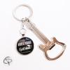 porte-clef décapsuleur guitare électrique trousseau de clés rock'n'roll