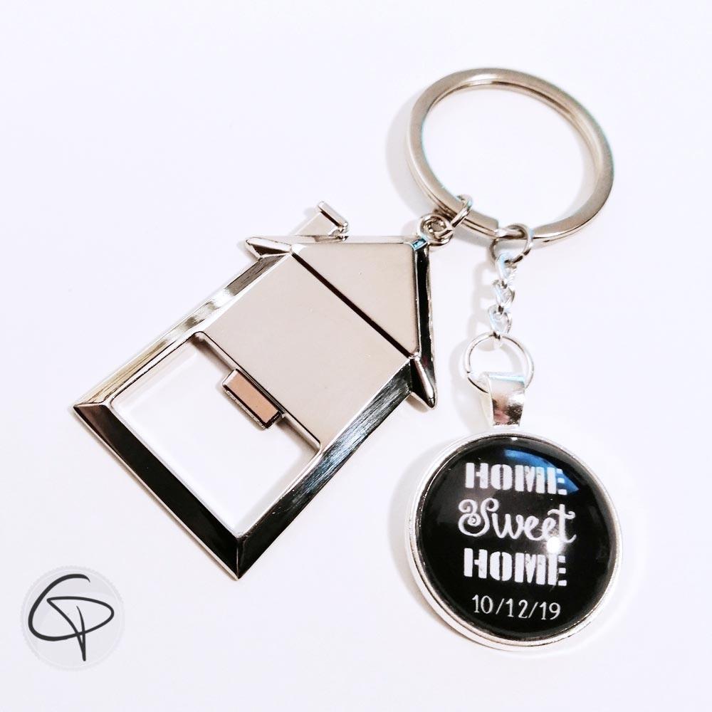 porte-clé décapsuleur maison home sweet home