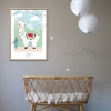 illustration lama alpaga pour bébé décoration murale originale chambre